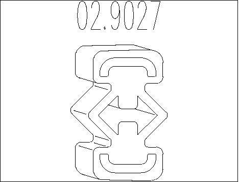 Accessoires d'echappement MTS 02.9027 (X1)