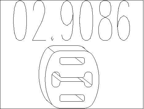 Accessoires d'echappement MTS 02.9086 (X1)