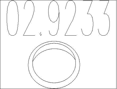 Joint d'echappement MTS 02.9233 (X1)