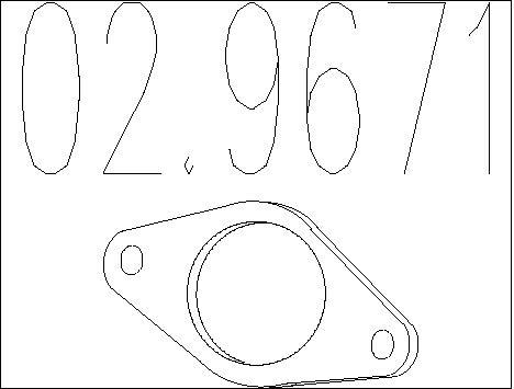 Joint d'echappement MTS 02.9671 (X1)