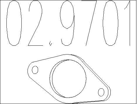 Joint d'echappement MTS 02.9701 (X1)