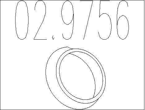 Joint d'echappement MTS 02.9756 (X1)