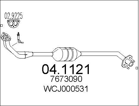 Catalyseur MTS 04.1121 (X1)