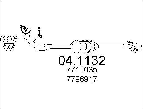 Catalyseur MTS 04.1132 (X1)