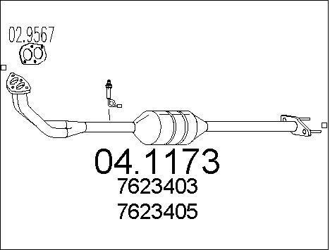 Catalyseur MTS 04.1173 (X1)