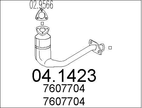 Catalyseur MTS 04.1423 (X1)