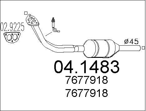 Catalyseur MTS 04.1483 (X1)