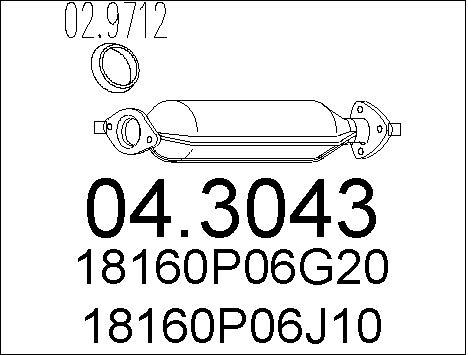 Catalyseur MTS 04.3043 (X1)