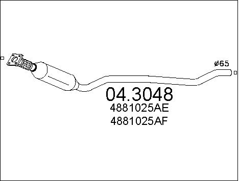 Catalyseur MTS 04.3048 (X1)