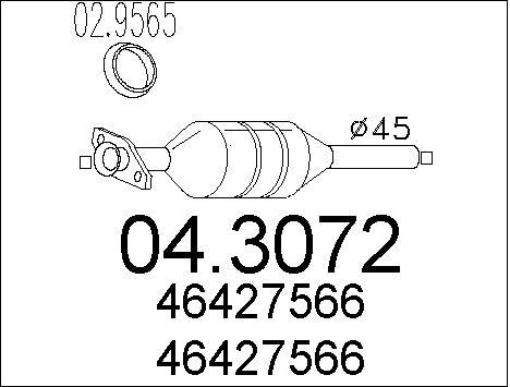 Catalyseur MTS 04.3072 (X1)