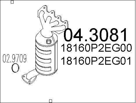 Catalyseur MTS 04.3081 (X1)