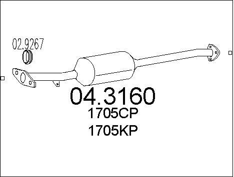 Catalyseur MTS 04.3160 (X1)