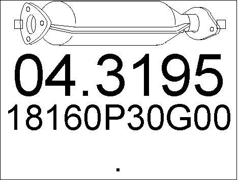 Catalyseur MTS 04.3195 (X1)