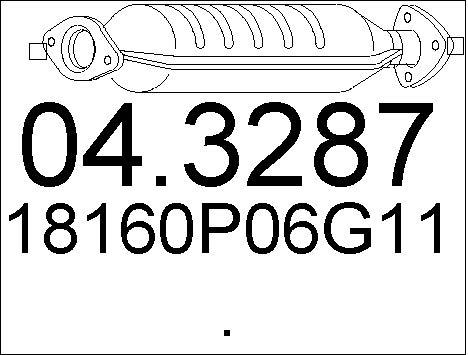 Catalyseur MTS 04.3287 (X1)