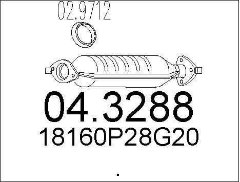 Catalyseur MTS 04.3288 (X1)