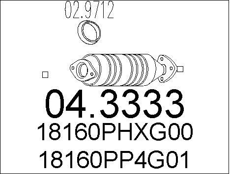 Catalyseur MTS 04.3333 (X1)