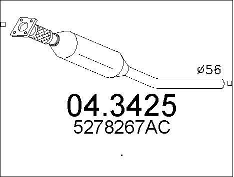 Catalyseur MTS 04.3425 (X1)