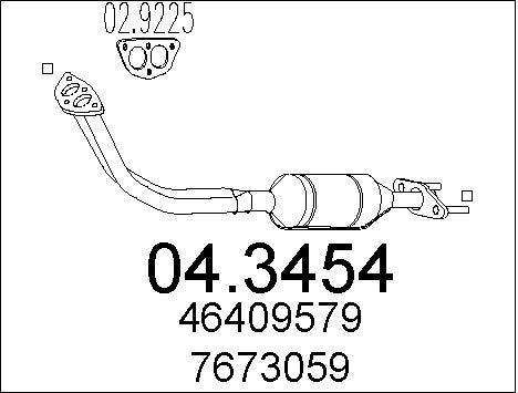 Catalyseur MTS 04.3454 (X1)