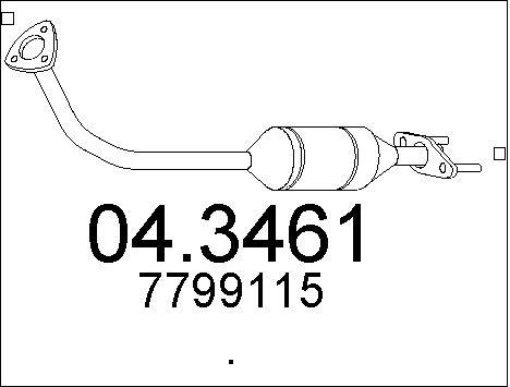 Catalyseur MTS 04.3461 (X1)