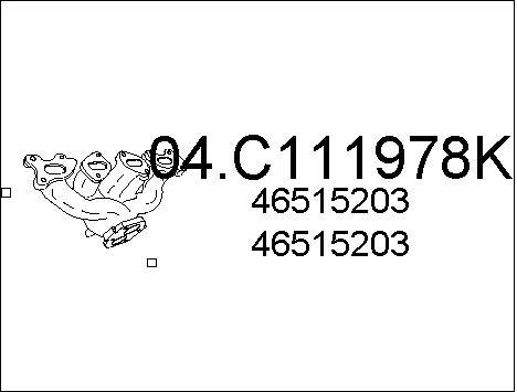 Tube d'echappement MTS 04.C111978K (X1)