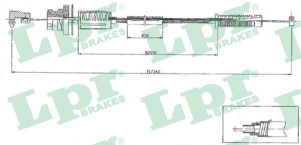 Cable d'accelerateur LPR C0079A (X1)