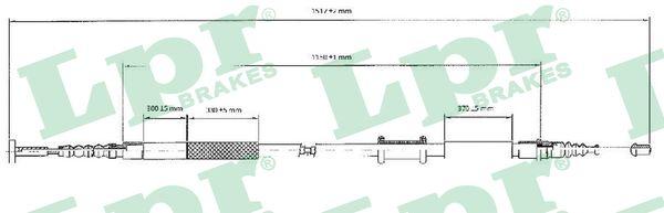 Cable de frein à main LPR C0086B (X1)