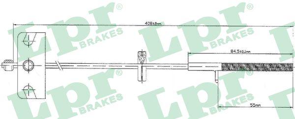 Cable de frein à main LPR C0840B (X1)