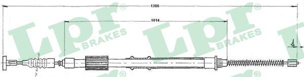 Cable de frein à main LPR C0842B (X1)