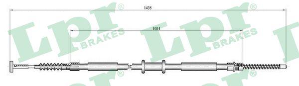 Cable de frein à main LPR C0843B (X1)