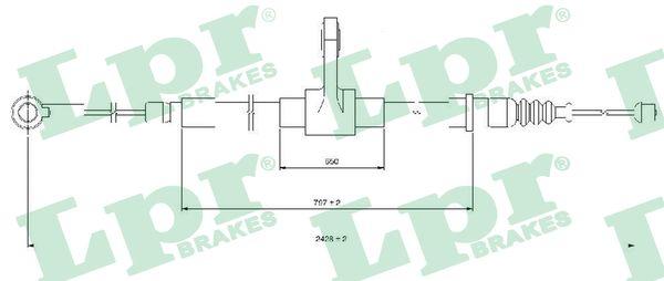 Cable de frein à main LPR C1416B (X1)