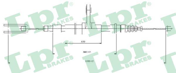 Cable de frein à main LPR C1417B (X1)
