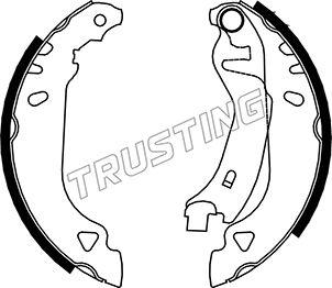 kit de frein arrière simple ou prémonté TRUSTING 034.090 (Jeu de 4)