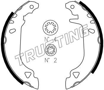 kit de frein arrière simple ou prémonté TRUSTING 034.090S (Jeu de 4)
