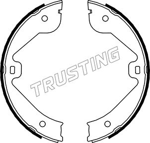 Jeu de mâchoires de frein de frein à main TRUSTING 052.131 (Jeu de 4)