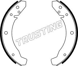 kit de frein arrière simple ou prémonté TRUSTING 124.250 (Jeu de 4)