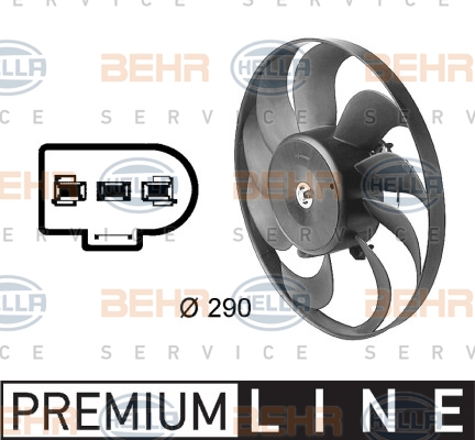 Ventilateur de condenseur HELLA 8EW 009 144-601 (X1)
