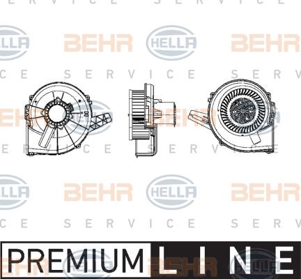 Chauffage et climatisation HELLA 8EW 009 157-111 (X1)