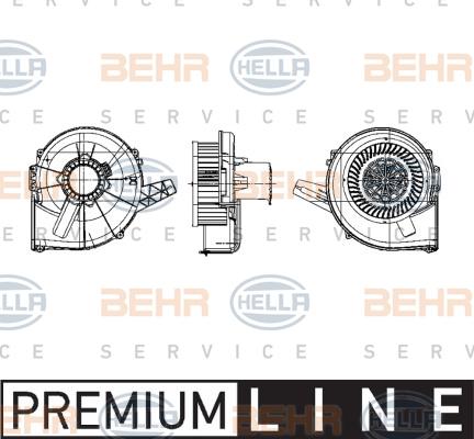 Chauffage et climatisation HELLA 8EW 009 157-131 (X1)