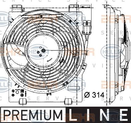 Ventilateur de condenseur HELLA 8EW 009 157-451 (X1)
