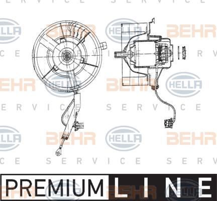 Chauffage et climatisation HELLA 8EW 009 158-111 (X1)