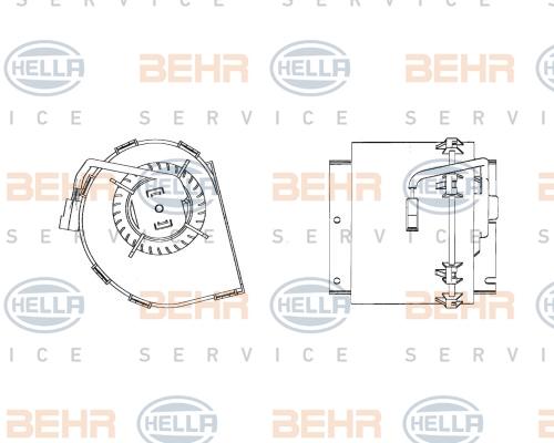 Chauffage et climatisation HELLA 8EW 009 158-511 (X1)
