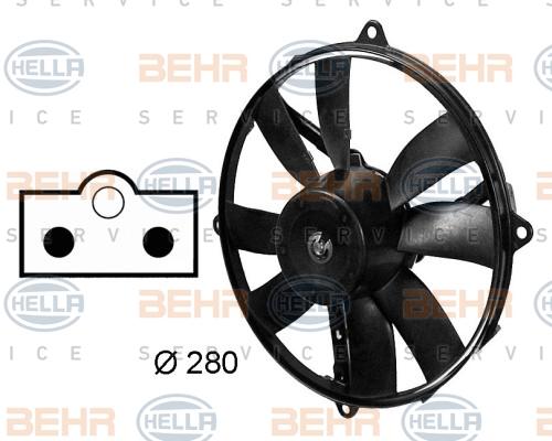 Ventilateur de condenseur HELLA 8EW 009 158-761 (X1)