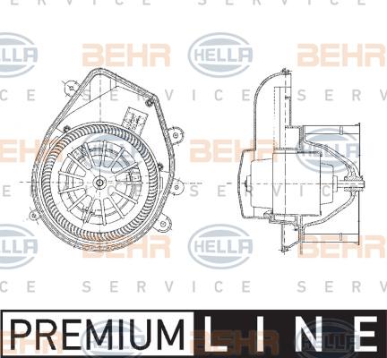 Chauffage et climatisation HELLA 8EW 009 159-131 (X1)