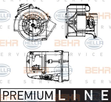 Chauffage et climatisation HELLA 8EW 009 159-371 (X1)