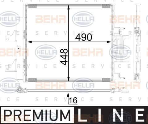 Condenseur / Radiateur de climatisation HELLA 8FC 351 001-711 (X1)