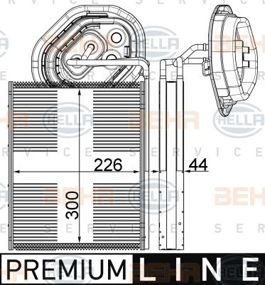 Evaporateur HELLA 8FV 351 003-571 (X1)