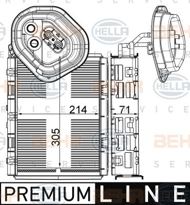 Evaporateur HELLA 8FV 351 003-591 (X1)