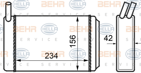 Radiateur de chauffage HELLA 8FH 351 024-211 (X1)