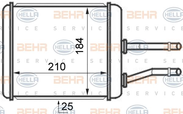 Radiateur de chauffage HELLA 8FH 351 024-421 (X1)