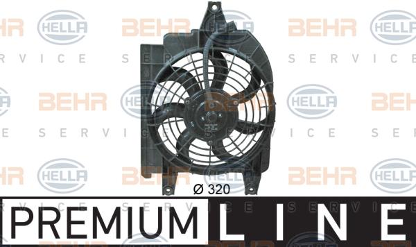 Ventilateur de condenseur HELLA 8EW 351 034-691 (X1)